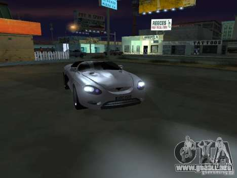 Ford Mustang 1993 para GTA San Andreas vista hacia atrás