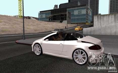 Peugeot 307CC BMS para la vista superior GTA San Andreas
