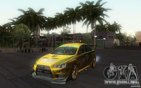 Mitsubishi Lancer Evolution X Gymkhana para GTA San Andreas