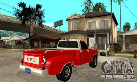 GMC 454 PICKUP para la visión correcta GTA San Andreas