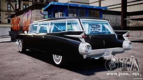 Cadillac Miller-Meteor Hearse 1959 para GTA 4 Vista posterior izquierda