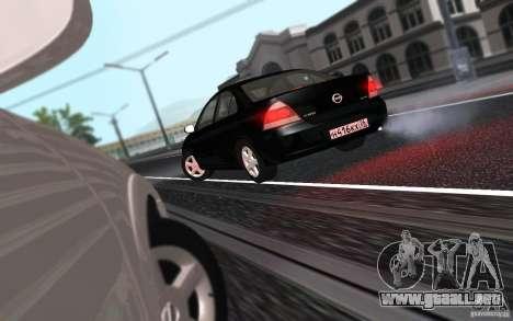 Nissan Almera Classic para GTA San Andreas vista hacia atrás