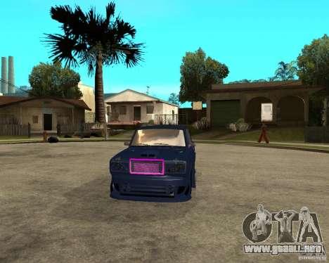 Vaz 2105 carrera callejera Tuning para GTA San Andreas vista hacia atrás