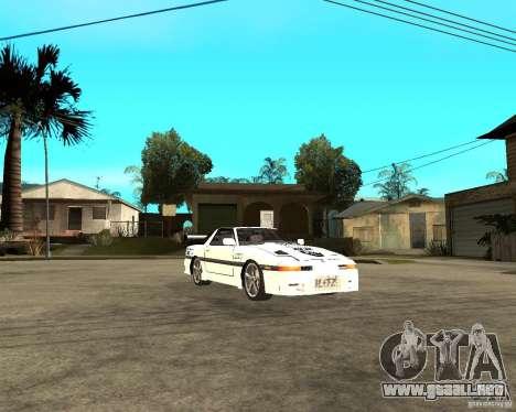 Toyota Supra MK3 Tuning para GTA San Andreas vista hacia atrás