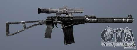 Como Rifle de asalto de Val para GTA San Andreas sexta pantalla