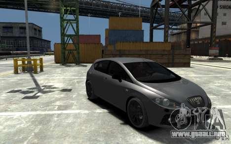 Seat Leon Cupra v.2 para GTA 4 vista hacia atrás