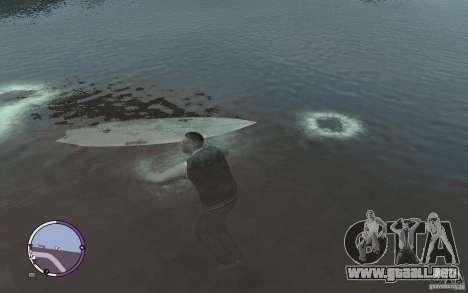 Tabla de surf para GTA 4 Vista posterior izquierda