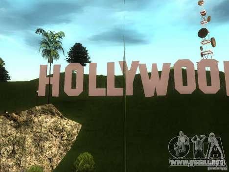 El Hollywood Sign para GTA San Andreas