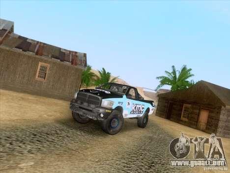 Dodge Ram Trophy Truck para la visión correcta GTA San Andreas