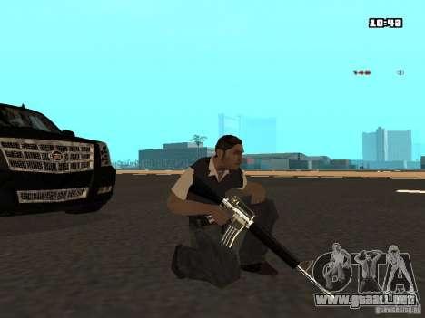 White Red Gun para GTA San Andreas quinta pantalla