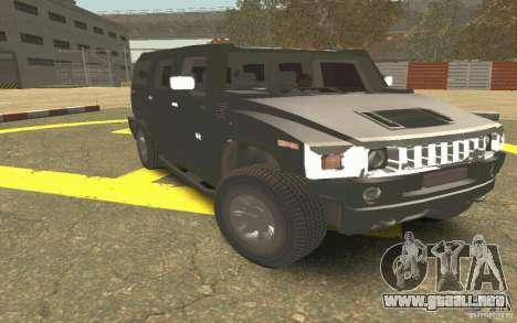 Hummer H2 Stock para visión interna GTA San Andreas