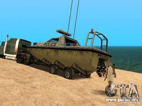 Remolque de barcos para la visión correcta GTA San Andreas