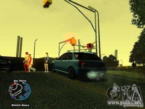 Subaru Impreza Wagon 2004 - 2002 para la visión correcta GTA San Andreas