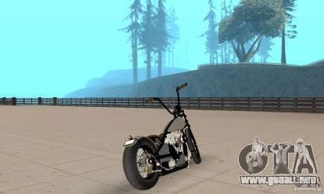 HD Shovelhead Chopper v2.1-cromo para GTA San Andreas left