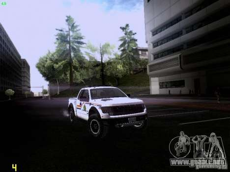 Ford Raptor Royal Canadian Mountain Police para GTA San Andreas vista posterior izquierda