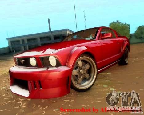 Ford Mustang GT 2005 Tunable para la visión correcta GTA San Andreas