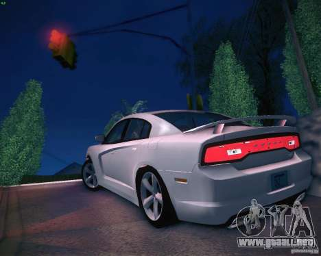 Dodge Charger 2011 v.2.0 para GTA San Andreas vista posterior izquierda