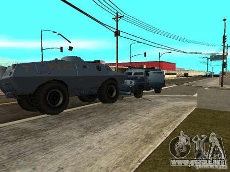 SWAT y el FBI carro pasear por las calles de para GTA San Andreas segunda pantalla