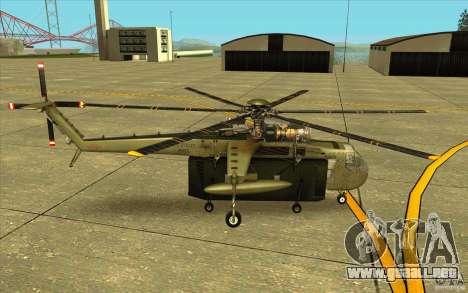 Sikorsky CH-54 Tarhe para GTA San Andreas left