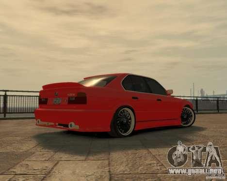 Bmw 535i (E34) tuning para GTA 4 vista hacia atrás