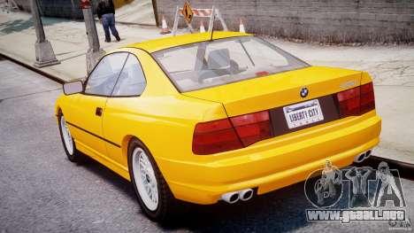 BMW 850i E31 1989-1994 para GTA 4 Vista posterior izquierda