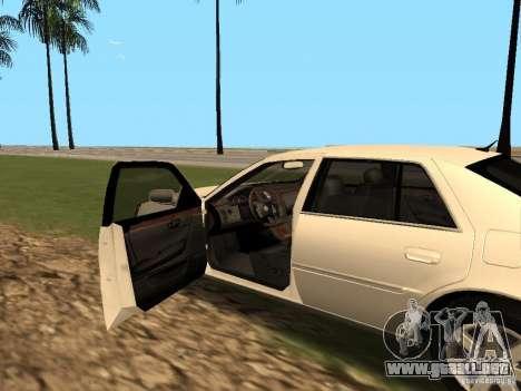 Cadillac DTS 2010 para GTA San Andreas vista hacia atrás