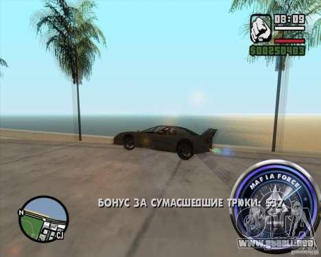 Velocímetro-2 para GTA San Andreas sucesivamente de pantalla