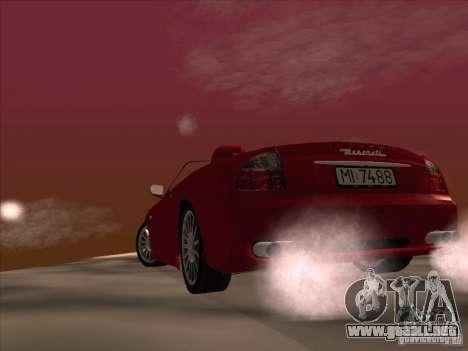 Maserati Spyder Cambiocorsa para la vista superior GTA San Andreas