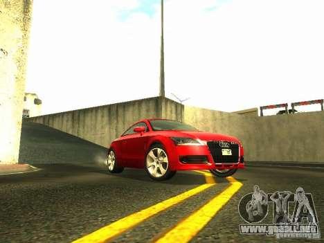 Audi TT 2009 v2.0 para GTA San Andreas vista posterior izquierda