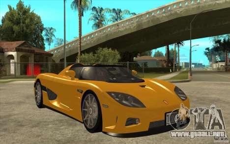 Koenigsegg CCX - Stock para GTA San Andreas vista hacia atrás