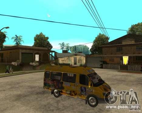 Gaz gacela 2705 Minibus para la visión correcta GTA San Andreas