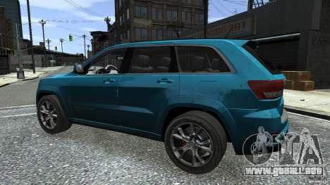 Jeep Grand Cherokee STR8 2012 para GTA 4 vista desde abajo