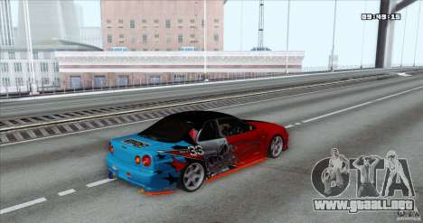 Nissan Skyline R34 Evil Empire para GTA San Andreas left