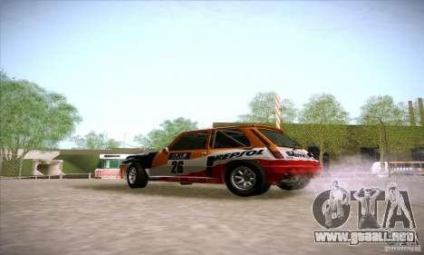 Renault 5 GT Turbo Rally para GTA San Andreas left