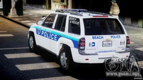 Chevrolet Trailblazer Police V1.5PD [ELS] para GTA 4 Vista posterior izquierda