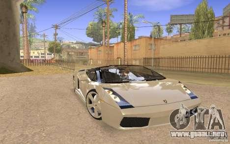 Lamborghini Galardo Spider para la visión correcta GTA San Andreas