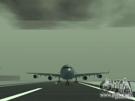 Airbus A340-300 Air France para GTA San Andreas vista hacia atrás