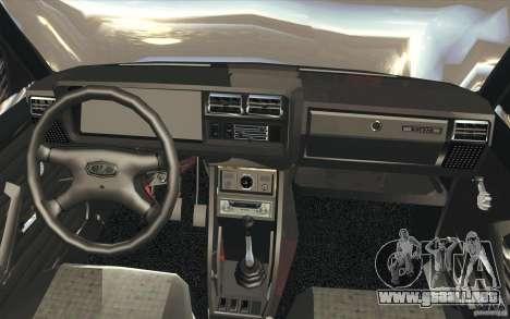Lada VAZ-2107 calle Drift Tuned para la vista superior GTA San Andreas