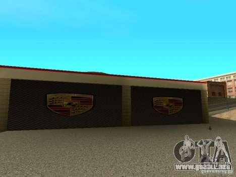 Garaje de Porsche para GTA San Andreas sucesivamente de pantalla