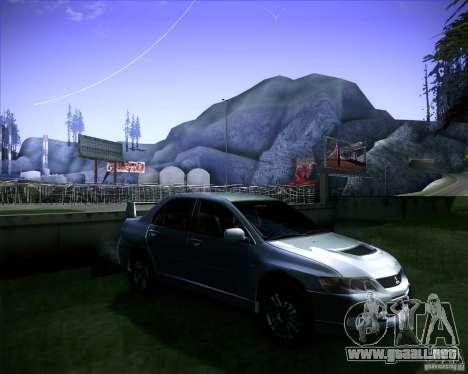 Mitsubishi Lancer Evolution VIII MR para la visión correcta GTA San Andreas