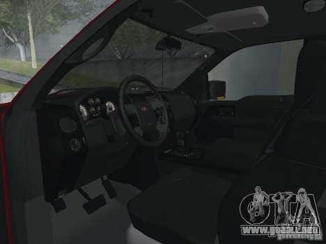 Ford F-150 2005 para visión interna GTA San Andreas