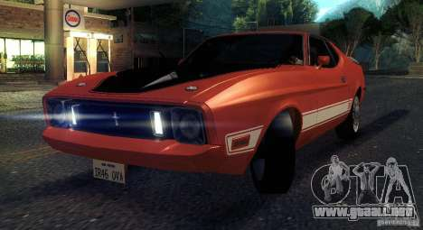 Ford Mustang Mach1 1973 para visión interna GTA San Andreas
