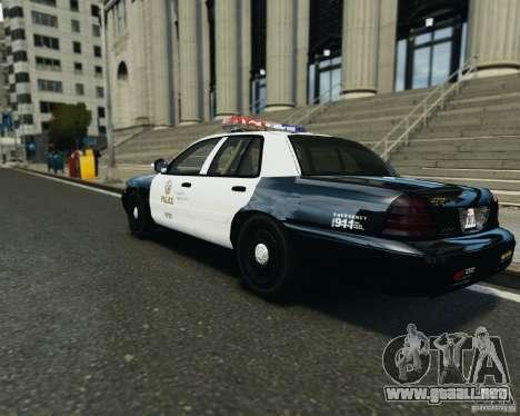 Ford Crown Victoria LAPD para GTA 4 visión correcta