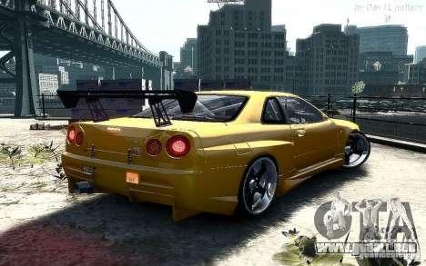 Nissan SkyLine BNR34 para GTA 4 left