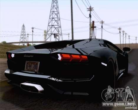 Lamborghini Aventador LP700-4 2011 para visión interna GTA San Andreas
