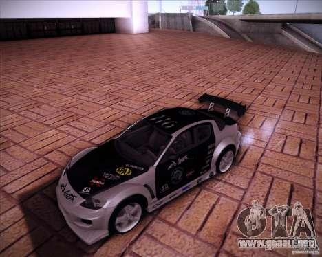 Mazda RX-8 para visión interna GTA San Andreas