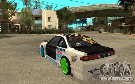 Nissan Silvia S14 Drift Bomb para GTA San Andreas vista posterior izquierda