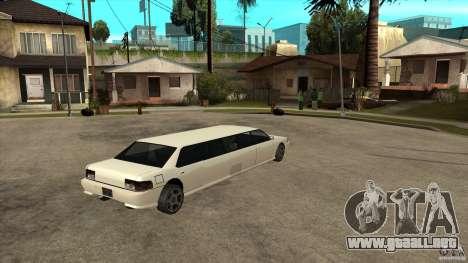 Limusina sultán para la visión correcta GTA San Andreas