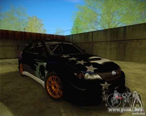 Subaru Impreza WRX STI 2011 para las ruedas de GTA San Andreas