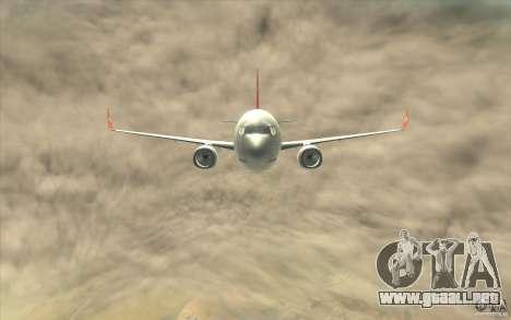 Boeing 737-800 THY para visión interna GTA San Andreas